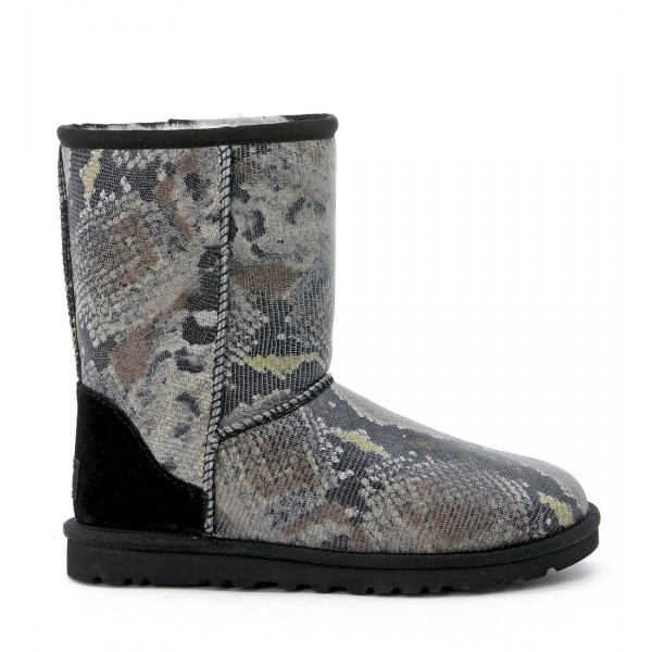 Classic Short Python Printed Ankle Boots
